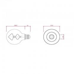 Medir Bombilla E-27 led Filamento G95 6W 600Lm