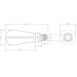 Esquema Bombilla led E-27 Filamento ST64 5W 380Lm
