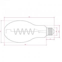 Esquema Bombilla led E-27 Filamento BR75 Regulable 4W 360Lm