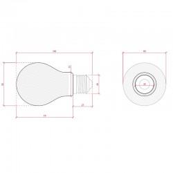 Esquema Bombilla led E-27 Filamento A60 4W 440Lm