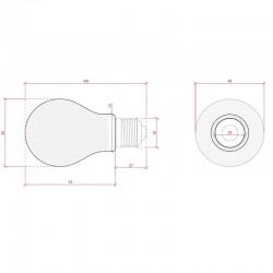 Esquema Bombilla led E-27 Filamento A60 6W 660Lm