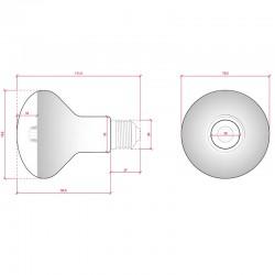 Esquema Bombilla led E-27 Filamento R80 6W 500Lm