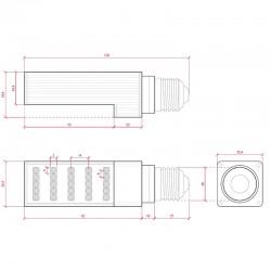 Esquema Bombilla led E-27 PL 5W 420Lm