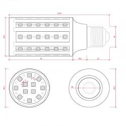 Plafón modelo Basic de LEDs