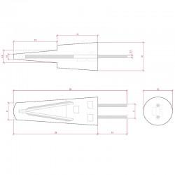 Esquema Bombilla led G4 Filamento 1,5W 130Lm