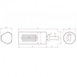Esquema Bombilla led G4 COB 4,5W 250Lm