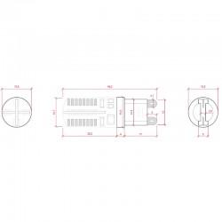 Esquema Bombilla led G9 3W SMD3014 200Lm