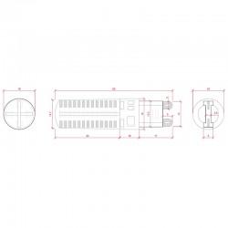 Esquema Bombilla led G9 5W SMD3014 320Lm