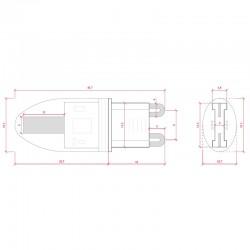 Esquema Bombilla led G9 1,6W COB 200Lm