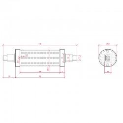 Medidas Bombilla led R7S 118mm SMD2835 10W 1000Lm