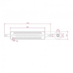 Esquema Bombilla led R7S 118mm SMD3014 10W 1000Lm