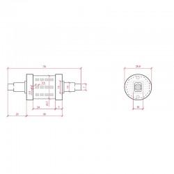 Esquema Bombilla led R7S 78mm SMD2835 6W 600Lm