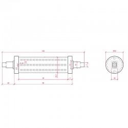 Esquema Bombilla led R7S 135mm SMD2835 14W 1400Lm