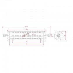 Esquema Bombilla led R7S 118mm Regulable 10W 1150Lm