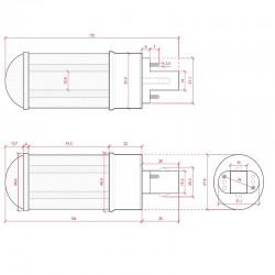 Esquema Bombilla led G24 9W SMD2835 800Lm