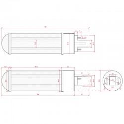 Esquema Bombilla led G24 15W SMD2835 1400Lm