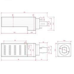 Medidas Bombilla led G24 5W SMD5050 420Lm
