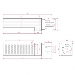 Esquema Bombilla led G24 8W SMD5050 680Lm