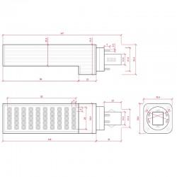 Esquema Bombilla led G24 8W 4pins 680Lm
