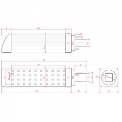 Esquema Bombilla led G24 9W SMD2835 900Lm