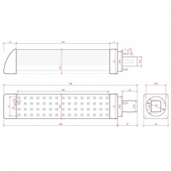 Esquema Bombilla led G24 12W SMD2835 1200Lm