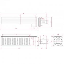 Esquema Bombilla led G23 12W SMD5050 1000Lm