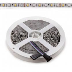 Tira RGB+BC 14,4W 12V SMD5050 72Leds/metro