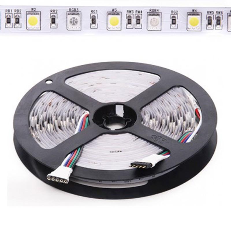 Tira 12W 24V RGB+BF SMD5050 60Leds/metro