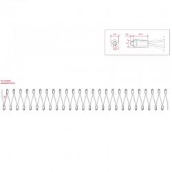 Esquema Pixel Led 9mm 0,1W 5V (50unidades) IP68 Púrpura