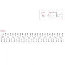 Esquema Pixel Led 9mm 0,1W 5V (50unidades) IP68 Rosa