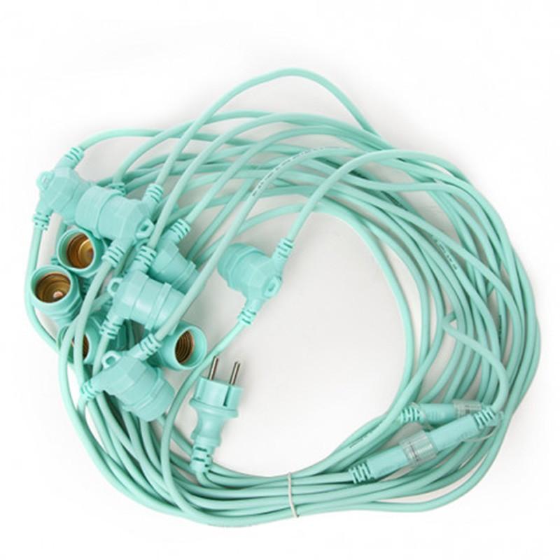 Cadena Luminosa Verde 11 x E27 IP44