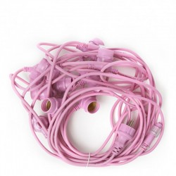Cadena Luminosa Rosa 11 x E27 IP44