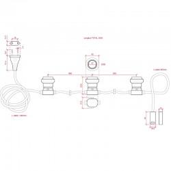 Tamaños Cadena Luminosa Rosa 11 x E27 IP44