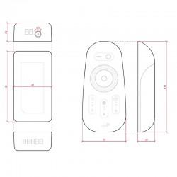 Esquema Controlador RGB+Blanco 12-24v