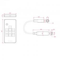 Esquema Controlador RGB Mini 12-24v Mando