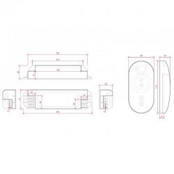 Esquema Controlador-Regulador Táctil Unicolor 12-24v