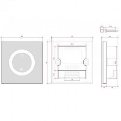 Esquema Controlador Empotrable Táctil RGB 12-24v