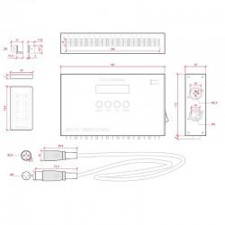 Esquema Controlador DMX 24V Mando