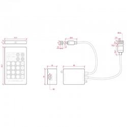 Esquema Controlador RGB Musical 12-24v