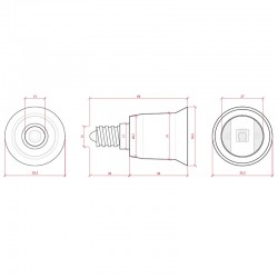 Esquema Adaptador Casquillo E14-E27