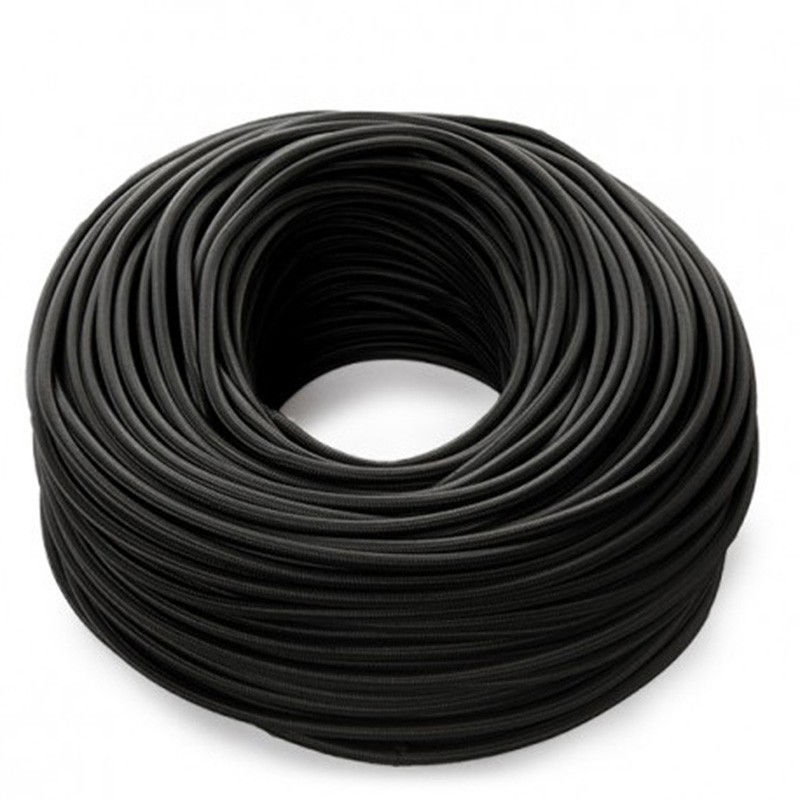 Cable negro 2x0,75 Redondo
