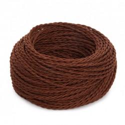 Cable Marron 2x0,75 Trenzado