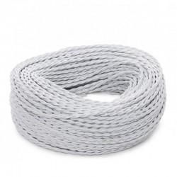 Cable Blanco 2x0,75 Trenzado