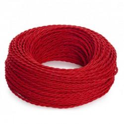 Cable Rojo 2x0,75 Trenzado