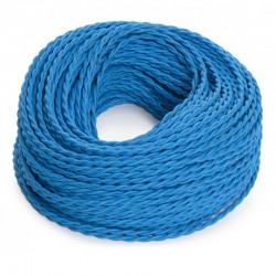 Cable Turquesa 2x0,75 Trenzado