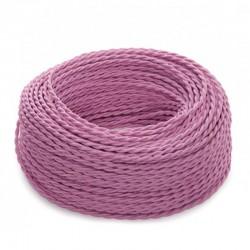 Cable Rosa 2x0,75 Trenzado