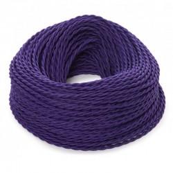 Cable Morado 2x0,75 Trenzado