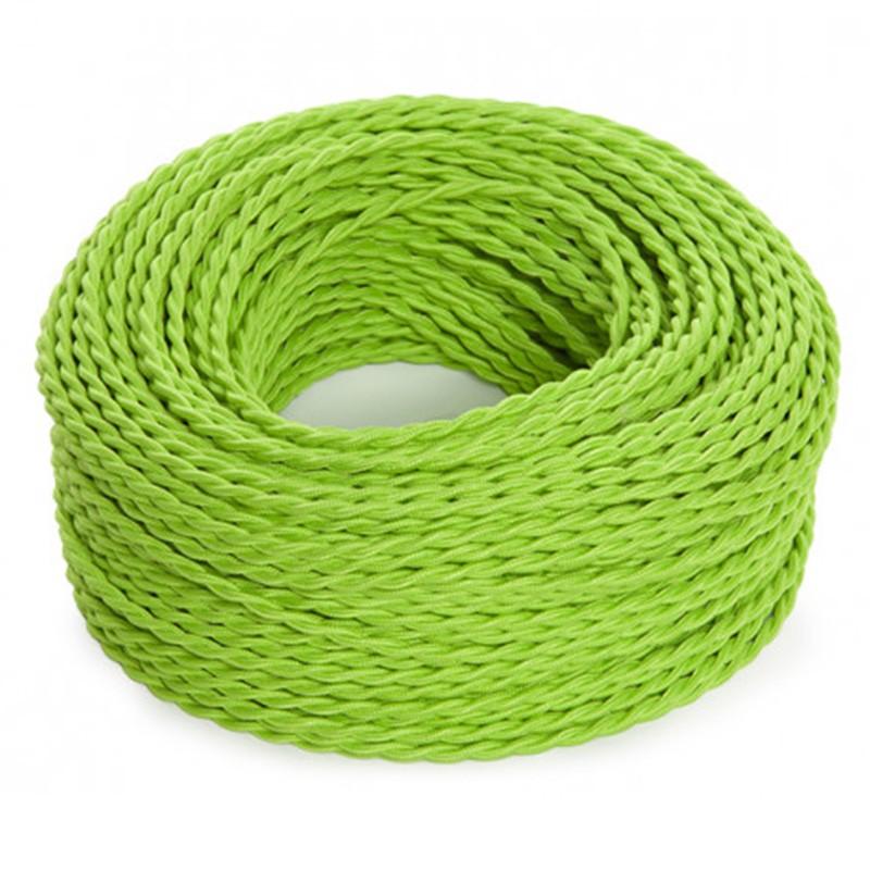 Cable Verde 2x0,75 Trenzado