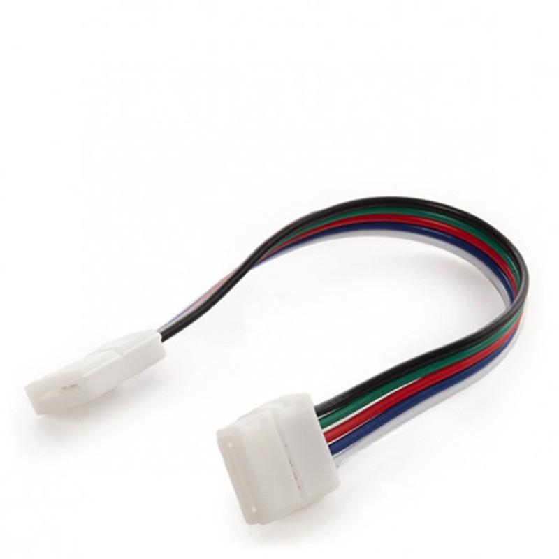 Conector Doble con cable Tira 12V RGB+Blanco