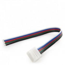 Conector con cable Tira 12V RGB+Blanco